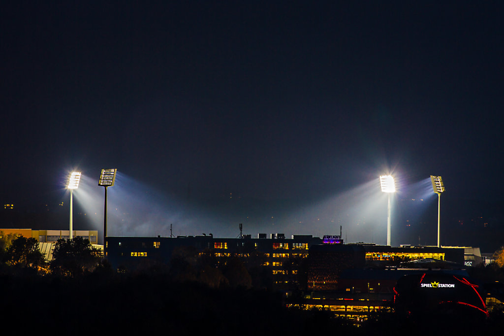 VFL Bochum stadium at night