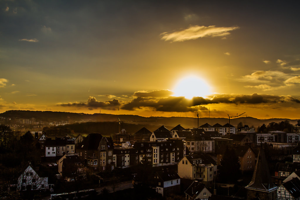 Blankenstein sunset