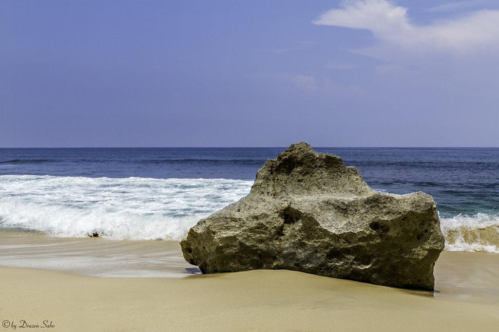 stone on the beach